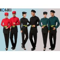 Wholesale Cool Restaurant Staff Uniforms With Solid Color Long Sleeve Shirt And Pants from china suppliers