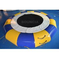 Wholesale PVC Tarpaulin Round Inflatable Water Trampoline Durable With Spring Structure from china suppliers