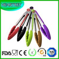 Wholesale Silicone Cooking Tongs - Premium Quality Silicone Tongs fo- Salad & Grill (BBQ) Stainless Steel Tongs with Silicone Tips from china suppliers