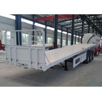 Quality 20ft / 40ft Container Semi Flatbed Trailers 3 Axles 30 - 60 Tons 13m Length for sale