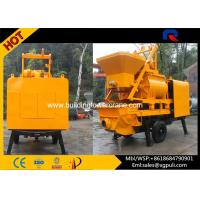 Wholesale Mobile Concrete Mixer Pump Trailer With Twin - Shaft Mixer 380v from china suppliers