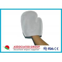 Wholesale Hygiene 90gsm Spunlace  Bath Wash Gloves Fresh Scent With Single Threat Sewing from china suppliers