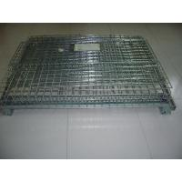 Wholesale Foldable Iron Galvanized Wire Mesh Container, Wire Mesh Storage Boxesfor Warehouse from china suppliers