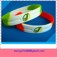Buy cheap souvenir promotional debossed rubber silicone bracelet from wholesalers