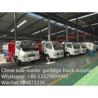 Wholesale dongfeng side loader garbage truck, gabage truck with wastes bin for sale, from china suppliers