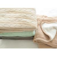 Wholesale Customized Warm Soft Knitted Wool Blanket 100% Polyester For Home from china suppliers
