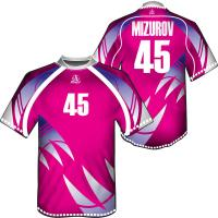 Wholesale OEM Pink Dye Sublimated Soccer Jersey Sportswear With Italy Ink For Children / Adult from china suppliers