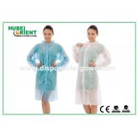 Wholesale Polyethylene disposable lab gowns with Shirt Collar , CE Certificate from china suppliers