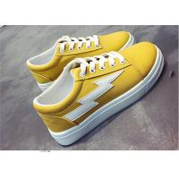 Wholesale Fashionable Females Canvas Sneakers Shoes For Student Yellow White Black Color from china suppliers