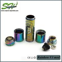 Wholesale Green V3 26650 Mechanical Mod , Vapor E Cigarette Flat Top 510 Atomiser from china suppliers