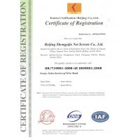 BEIJING SYJ WIRE MESH CO., LTD. Certifications