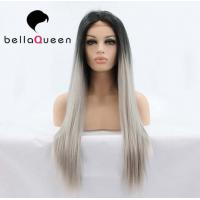 Wholesale Ombre Color 1b / Sliver Heat Resistant Human Hair Lace Front Wigs Girl use from china suppliers