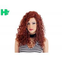 Wholesale High Quality Synthetic Wigs Red Color No Lace Synthetic Curly Wigs Natural Looking from china suppliers