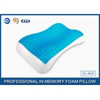 Quality Antimicrobial PU Memory Foam Cooling Gel Pillow For Back / Side And Stomach Sleeper for sale