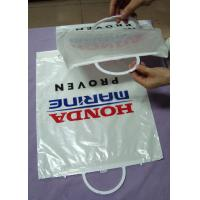 Wholesale White Logo Printed Plastic Gift Bags With Handles / Bottom Gusset from china suppliers