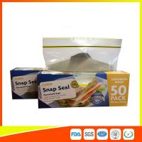 Wholesale Ziplock Plastic Sandwich Bags With Writable Panel , Zipper Food Storage Bags 18 * 17cm from china suppliers