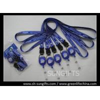 Wholesale Custom polyester lanyard and carabiner badge reel combo from china suppliers