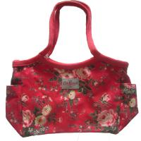 Wholesale Cotton Red Womens Tote Shopper Bag 600D Full Pattern Size Customized from china suppliers
