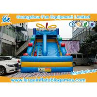 Wholesale Blue Candy Commercial Inflatable Slide For Garden Or Backyard  bouncy house from china suppliers