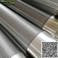 Wholesale Stainless Steel Direct Slip On Wire Wrapped  Screens Pipe Johnson Screens for Deep Well Drilling from china suppliers