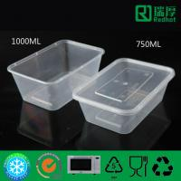 Wholesale Rectangular Microwaveable disposable plastic PP food container 750ml from china suppliers