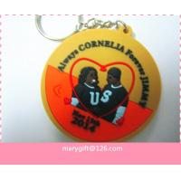 Wholesale 2014 fashionable 3D wedding pvc key rings custom manufacturer from china suppliers