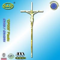 Wholesale Funeral cross plastic cross crucifix DP008 for coffin decoration Plasticos cruces con cristo size 45*19cm from china suppliers