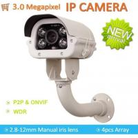 Wholesale P2P 3 Megapixel Resolution Starlight IP Camera Onvif Ip Camera With 2.8-12mm Varifocal Lens from china suppliers