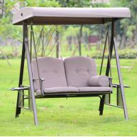 Buy cheap Outdoor furniture garden adult baby swing chair 2 seater 3 seaters swing chair for bedroom beach patio chair swing iron from wholesalers