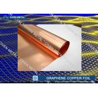 Wholesale Red Copper Foil Sheet Rolls For Graphene 0.015 - 0.05mm Thickness from china suppliers