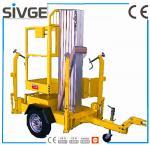 Wholesale Single Mast Hydraulic Elevating Platform , Aluminium Alloy 8m Trailer Mounted Lift from china suppliers