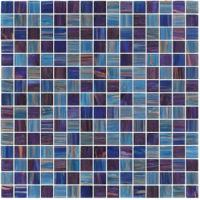 Wholesale Dark sky blue with gold line 20mm glass mosaic mix patter decoration for counter build from china suppliers
