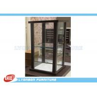 Wholesale Brown Customized MDF Glass Countertop Display Cabinet For Women Bags display from china suppliers