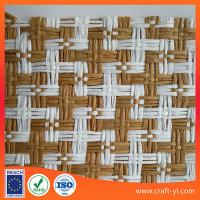 Buy cheap raffia woven straw fabric for hats in natural material textile from wholesalers