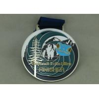 Wholesale Customized Big Round Antique Enamel Medals , Brass Die Struck Running Sports Medal from china suppliers