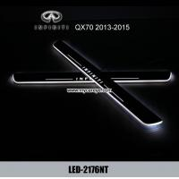 Wholesale Infiniti QX70 car door welcome lights LED Moving Door sill Scuff for sale from china suppliers