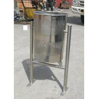 Wholesale Welded Metal Trash Bin Stainless Steel Kitchen Trash Cans For School from china suppliers