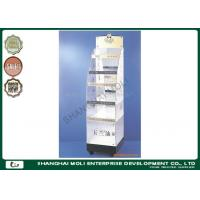 Wholesale Elegant cosmetic rack floor standing 5 shelves plastic acrylic makeup display from china suppliers