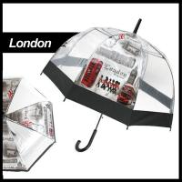 Wholesale New Transparent Umbrella Fashion Dome Long Automatic Handle Eiffel Tower London from china suppliers