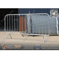 Wholesale 1.1m high Hot dipped galvanised Crowd Control Barrier Fencing with Claw Foot, φ25mm frame pipe from china suppliers