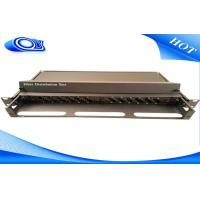 Wholesale Compact Design 24 Port Optical Fiber Patch Panel White / Black With Slide Out Drawer from china suppliers
