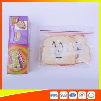 Wholesale Food Grade LDPE Double Zipper Plastic Zip Lock Bags For Food , Eco Friendly Sandwich Bags from china suppliers