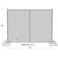 """Wholesale ASTM -A392-06 temporary chain link fence panels 6ft x 10ft construction fence Tubing 1⅗""""(40mm) cross brace mesh 1⅗""""40mm from china suppliers"""