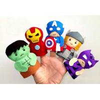 Wholesale Fashion Cartoon Plush Toys The Avengers Felt Finger Puppets , For Promotion Gifts and Premium from china suppliers