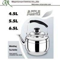 Wholesale Thicker Kettle Stainless steel Apple whistling tea kettle tea pot 4.5L, 5.5L, 6.5L from china suppliers
