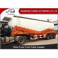 Wholesale 3 Axles 60cbm 80 ton Silo Bulker Cement Tank Trailer Carrier Reinforced Steel Material from china suppliers