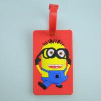 Wholesale Customized 3D soft rubber bag tag from china suppliers