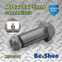 Quality M16 Carbon steel  Zinc plated Hot dip Galanised Expansion threading Machine Anchor Bolt for sale