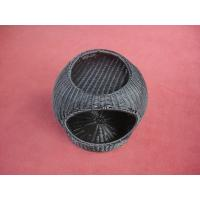 Wholesale Small Fashionable Wicker Pet Bed , Home Garden Dog Furniture from china suppliers