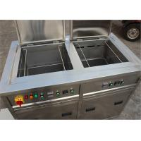 Quality Double Tanks Ultrasonic Cleaning Machine , Auto Ultrasonic Cleaner For Car Parts Degrease for sale